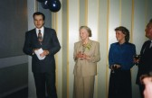 Eilean Starns with some of her family and Simon Fowler at her Retirement party from Robert Sayle