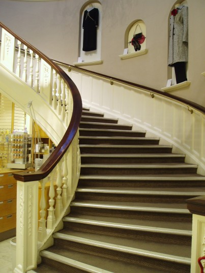 Main staircase up to the Fashion Floor - Robert Sayle