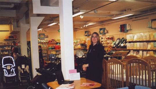 Anna Ruston in Robert Sayle Nursery Furniture department.