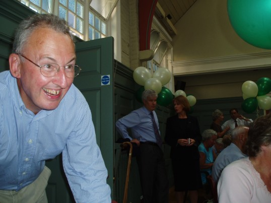 Chris Mitchell at the 75th Anniversary Celebrations.