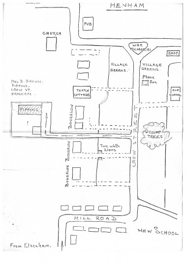 Sketch map from Robert Sayle Customer for the delivery men - part 4 of 4