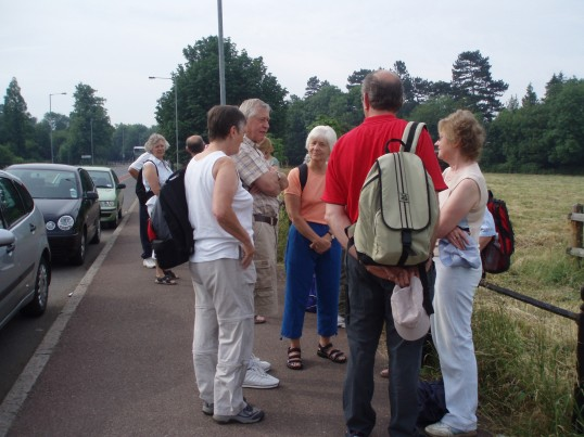 Robert Sayle Rambling Club walk from Newnham to Madingley and back by a different route.