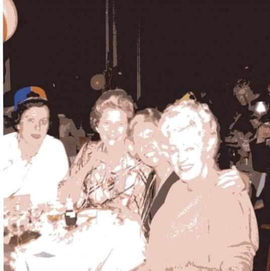 Robert Sayle Coat Department enjoy a social event together.