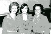 Joyce Sands, Vi Hills and Clare Negus from Robert Sayle Coat dept
