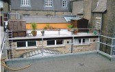 The roof garden and sun terrace at Robert Sayle St Andrews Street,a welcome place in the summer to eat your lunch