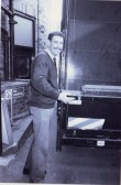 A young Simon Cassidy ready to unload a van in the shop yard