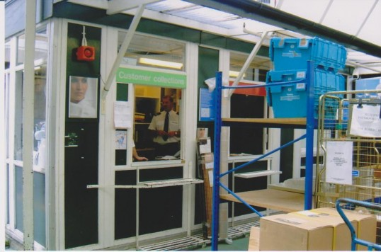 Secuity box back of Robert Sayle with Mick Barnet in the box