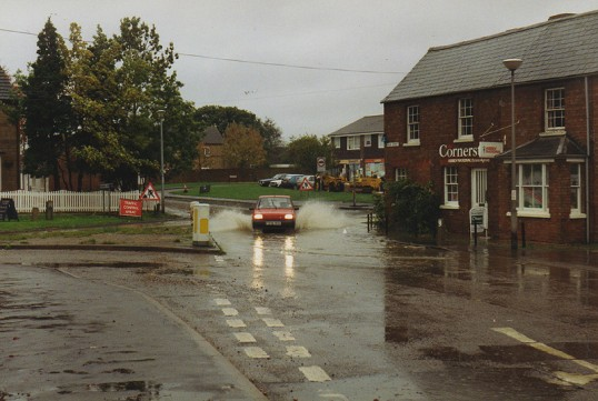 High Street, Sawtry August floods.