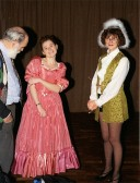 Stilton Players Sawtry. The musical director admiring the performers.