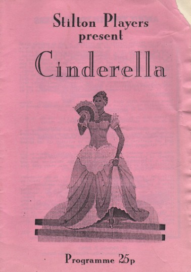 Stilton Players Programme 'Cinderella' 1995 at Sawtry College.