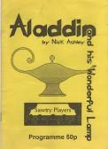 Stilton Players Programme 'Aladdin' 1996 at Sawtry College.