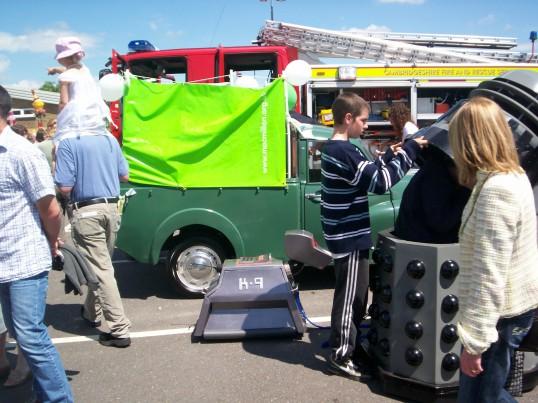 Dalek and K-9 at Sawtry Carnival