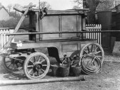 Sawtry owned this Manual Fire Engine bought in 1884 bythe Parish.