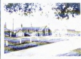 Chequers Inn, The Green, Sawtry. Pre-WW2 photo showing the stable block to the left .