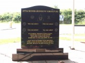 Memorial to the 457th Bombardment Group Conington (reverse view).