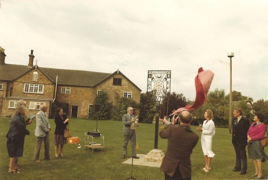 Sawtry Village Sign, unveiling ceremony.