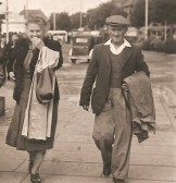 Arthur & Harriet Stevens of Sawtry (the Village Blacksmith) and his wife on a day out.