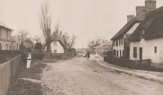 Church Street looking towards The Odd Fellows Arms Sawtry.