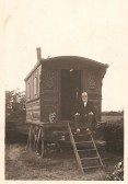 Mr Baggot who lived in this Caravan at Sawtry. (Would like any information about him)