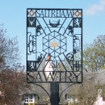 Sawtry Village Sign    Click the 'Text Show' button. Sawtry Sign