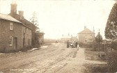 Green End Sawtry looking North to the Bell Pub.