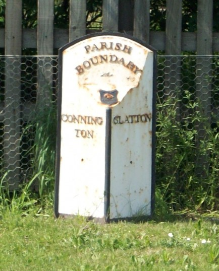 Connington/Glatton Parish Boundary on the old A1
