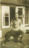 Beverley Nichols the Author at his Thatched Cottage in Glatton. Click the 'Text Show' button.. Beverley Nichols Author 1898-1983