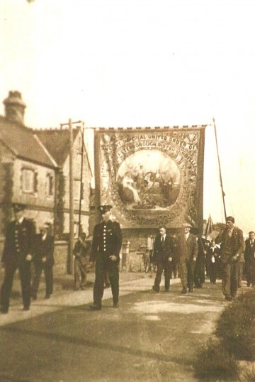 Feast Week Parade Sawtry, passing the Old School Hall.