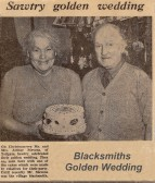 Golden wedding anniversary of the blacksmith, Mr Arthur Stevens & his wife Harriet at Sawtry.