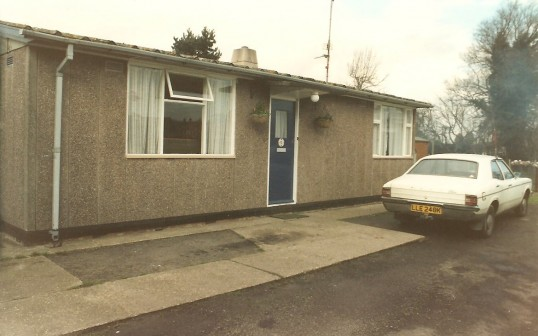 15 Park Road Sawtry, the last prefab standing demolished 1993. (Front view)