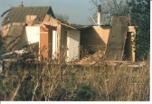 Demolition of the prefabs in Park Road Sawtry,to make way for new dwellings.
