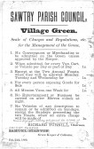 Sawtry Parish Council. Notice of charges for the Village Green.