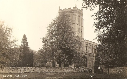 St. Nicholas Church Glatton. (Front view)