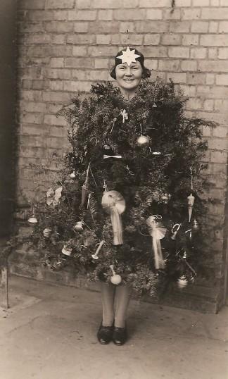 Sawtry W. I. Party Fancy Dress First Prize (Christmas Tree F Jackson Westfield House.)