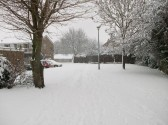 Snow in Sawtry worst for 20 years.( Behind Greenways)