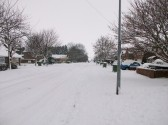 Snow in Sawtry worst in 20 years. (Gidding Road.)