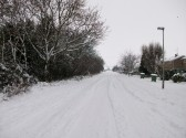 Snow in Sawtry worst in 20 years. (Looking toward the Giddings.)