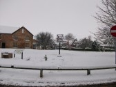 Snow in Sawtry worst in 20 years. (On TheVillage  Green.)