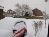 Snow in Sawtry worst in 20 years. (Westfield Road.)