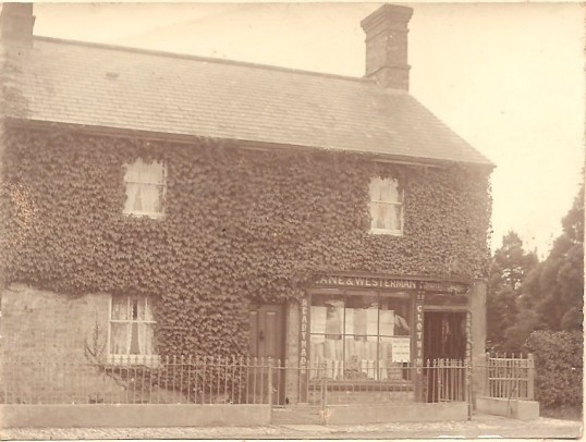 Lane & Westerman Green End Sawtry. (Drapers shop before new frontage was fitted)