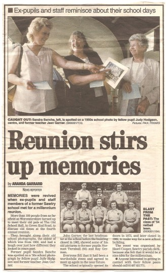 Millennium reunion at the Old School Hall Sawtry.