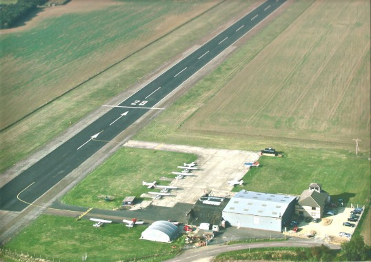 Conington Airport still using number 28 runway built by the American Airforce in 1943.