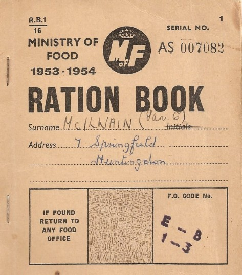 Typical Ration Book of the 2nd World War.