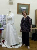 Sue Simmons at the Sawtry History Society Open Day.