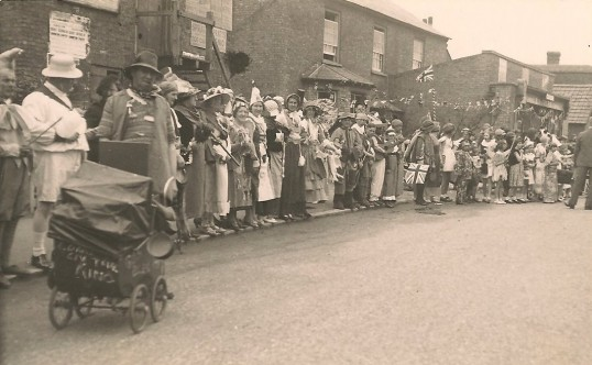 King George the 6th Coronation celebrations in Sawtry. The High Street.