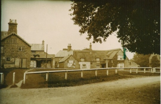 The Green Sawtry (F. Millers Shop & the Chequers Inn)