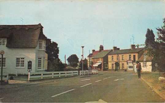 The High Road Sawtry (The Chequers Inn looking north)