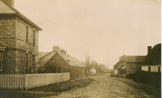 Church Street Sawtry. (View from The High Street)