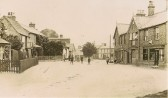The High Street Sawtry (Looks like this was on a Sunday all in their best clothes.)