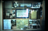 Sawtry History Society display case in the Library Sawtry.